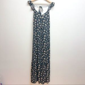 American Eagle outfitters black floral maxi dress